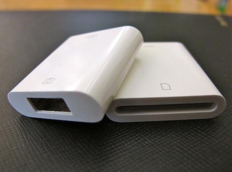 iPad camera adapters