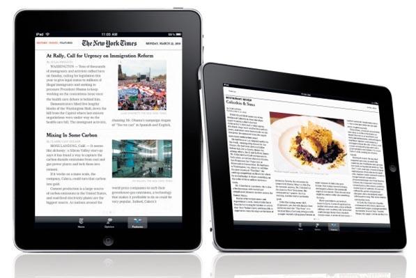 iPad newspaper