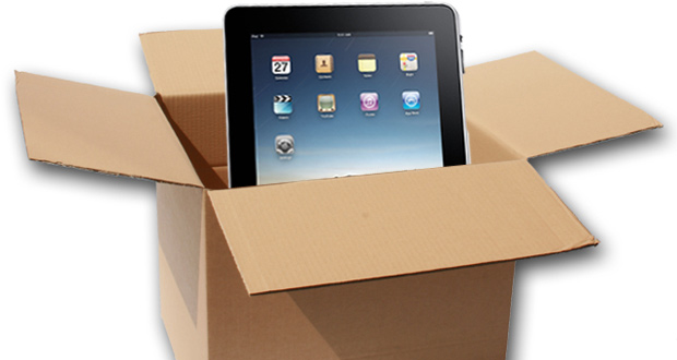 iPad shipping pack