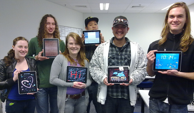 group with iPads