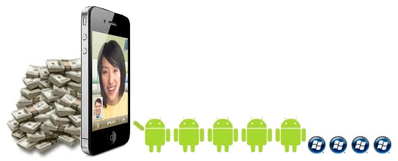 iphone profits android