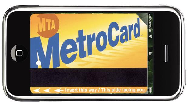 iPhone MetroCard