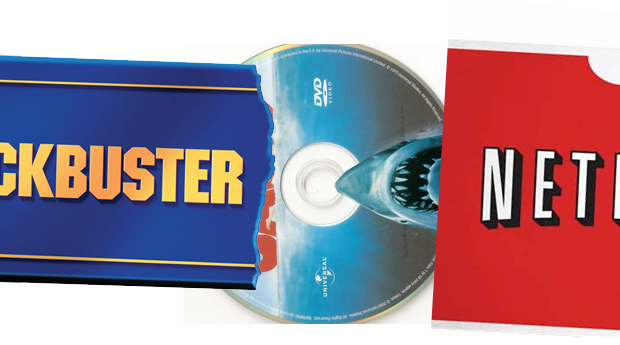 Blockbuster Netflix logos
