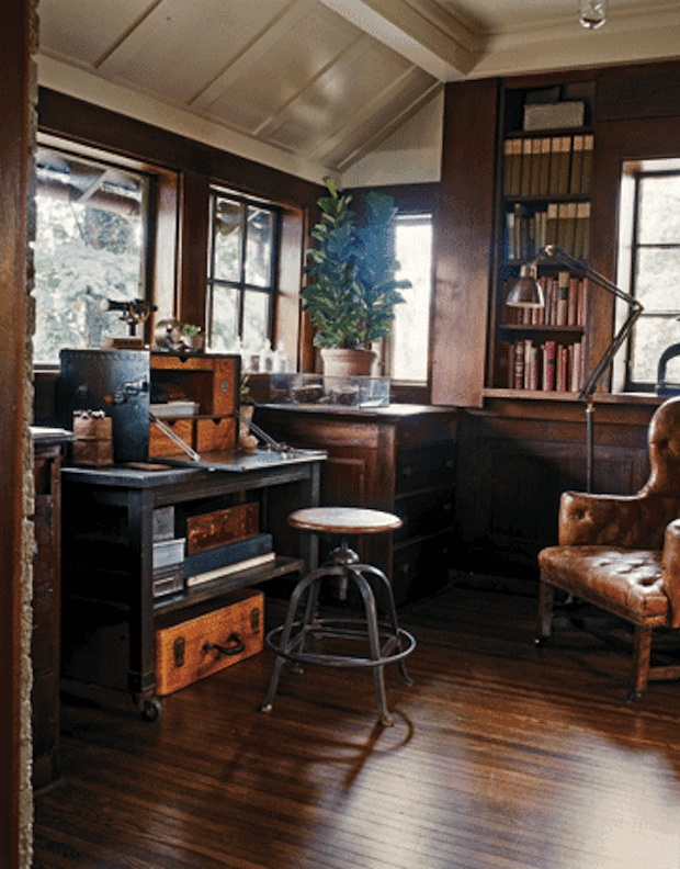 Industrial Study Room: Recession Style Watch: Introducing Industrial Rustic