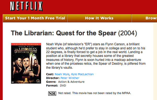 Netflix: The Librarian