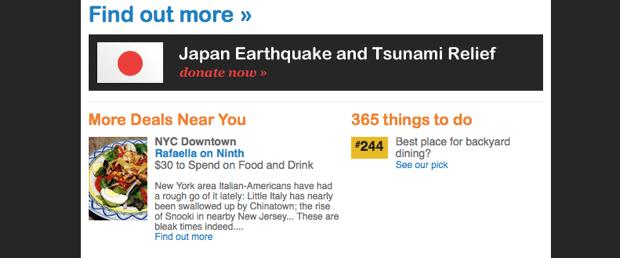 LivingSocial Japanese earthquake relief effort