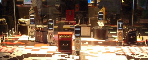 cell phones with mini guitar amps