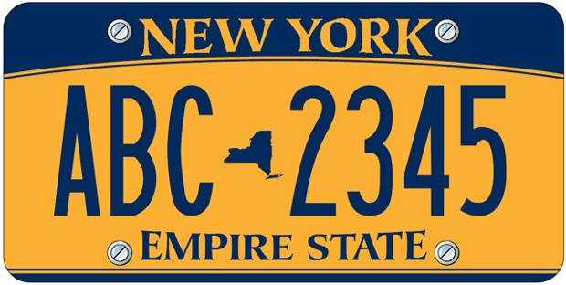 New new york license plate
