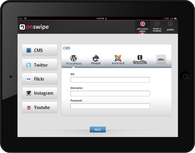 onswipe dashboard