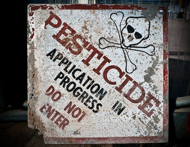 pesticide warning sign