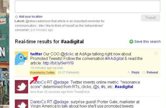promoted tweet