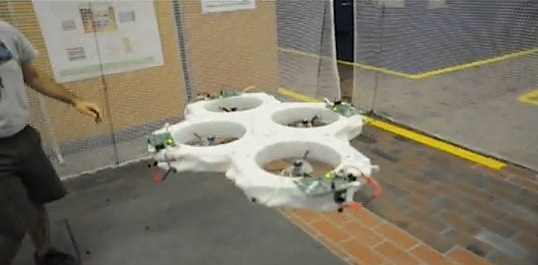 quadrocopters cluster