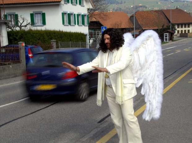 Swiss road angel