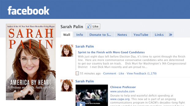 Sarah Palin Facebook