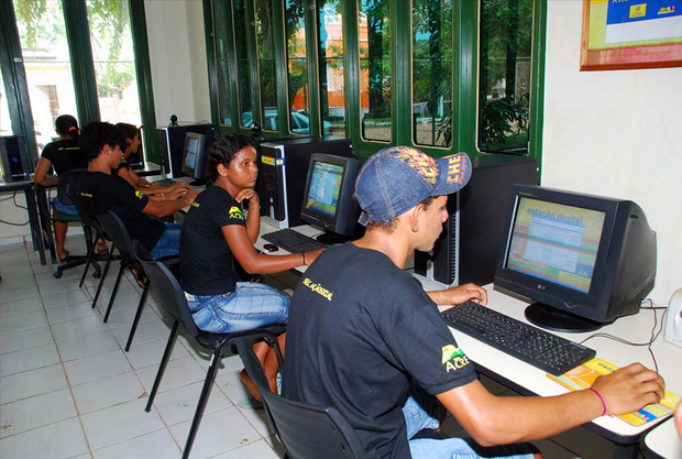 Latin American internet cafe