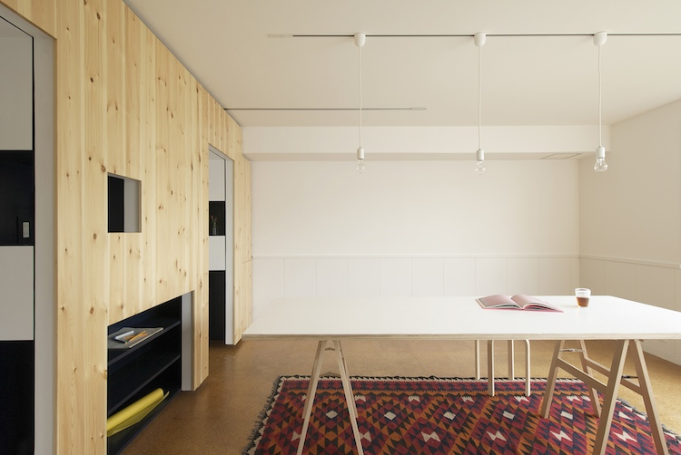 Sliding Walls Turn Tiny Apartment Into Home Office And