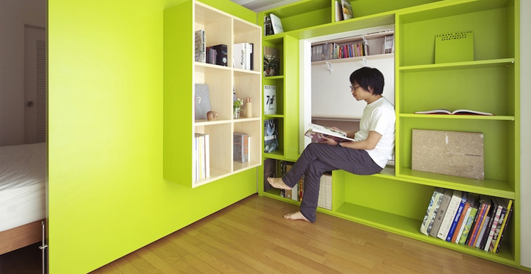 Sliding Walls Turn Tiny Apartment Into Home Office (and Back) | Co ...