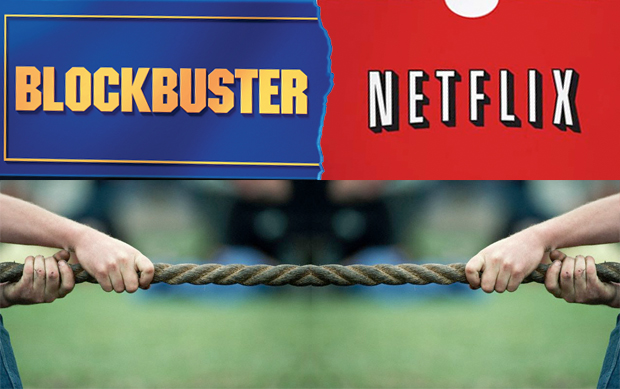 Blockbuster Netflix tug of war
