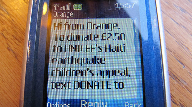 UNICEF text dontation