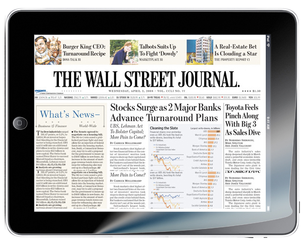 Wall Street Journal on iPad