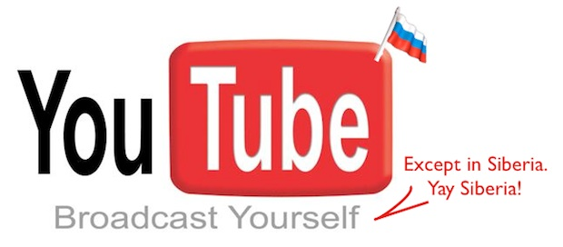 Russia YouTube ban