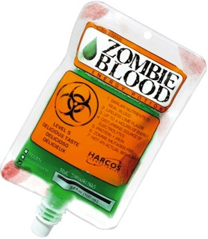 Zombie blood bag