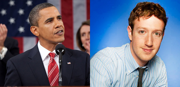 Obama and Mark Zuckerberg