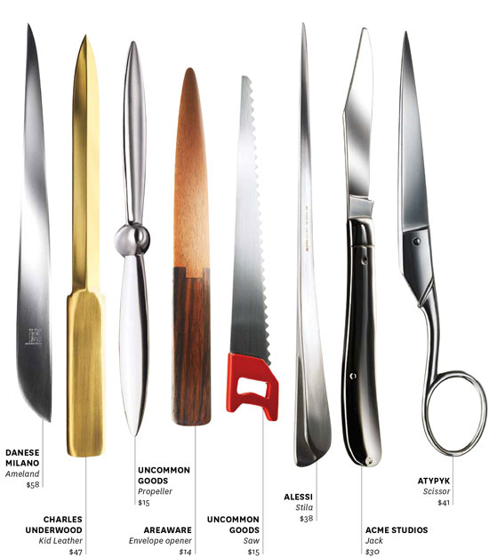cool letter openers kitschy letter openers make paper mail again 20961 | wanted 64 knives in