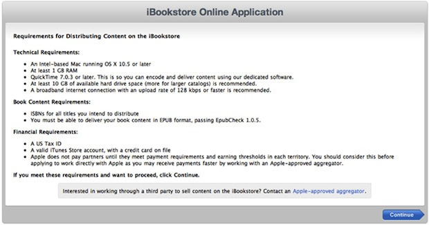 iBookstore online application