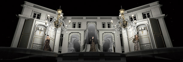 Ralph Lauren Media's 4-D show featured architectural light-mapping and generated 700 million media impressions