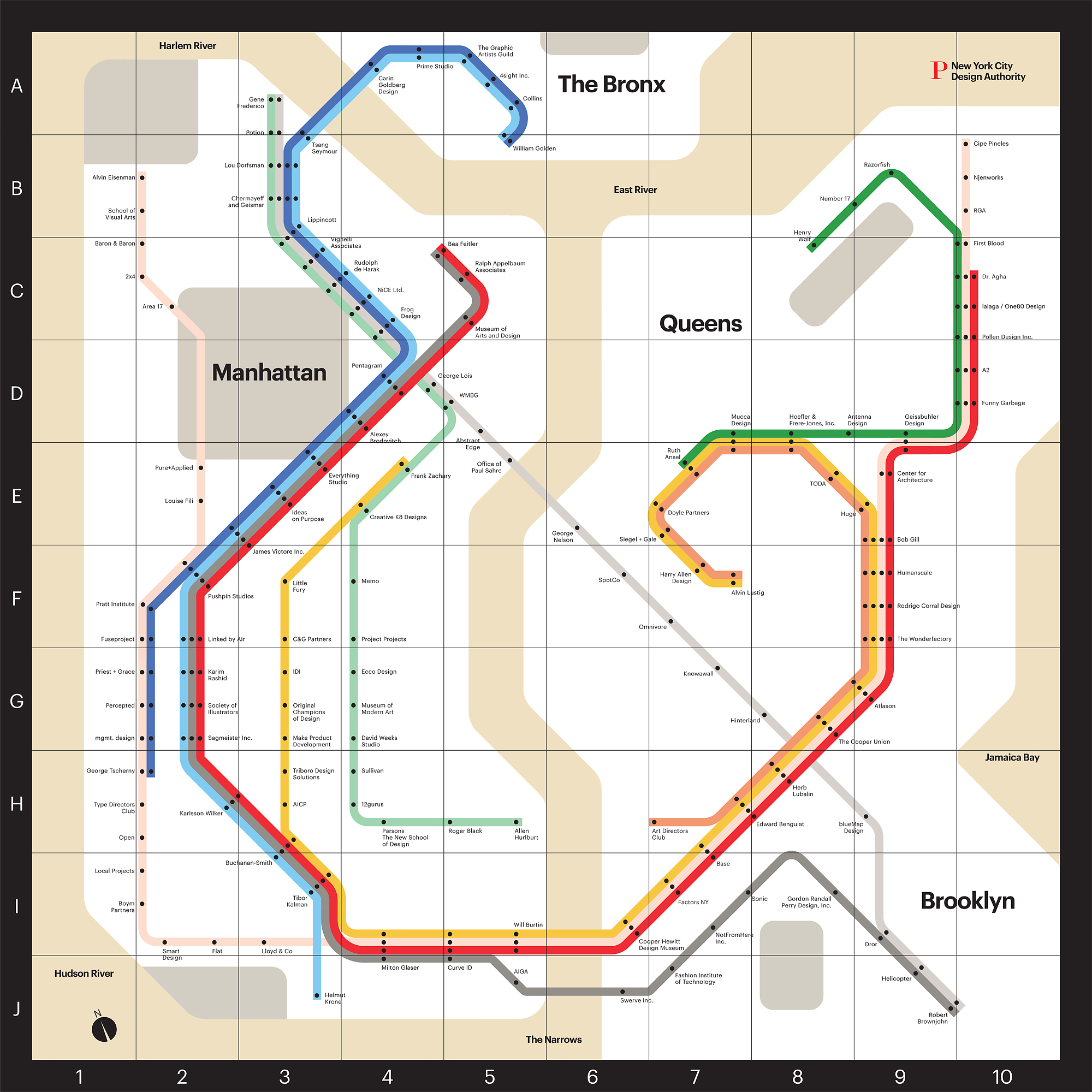 Nyc Subway Map 2000.Infographic Of The Day A Map Of Nyc S Design Scene