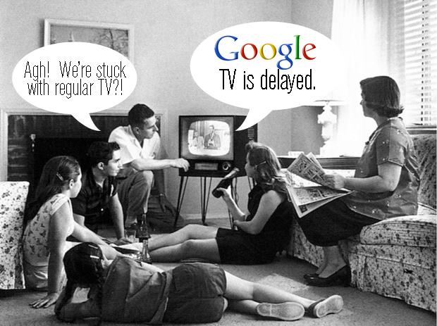 Family watching '50s TV