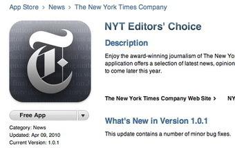 NY Times iPad app