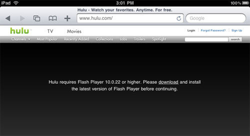 adobe flash player free install for ipad