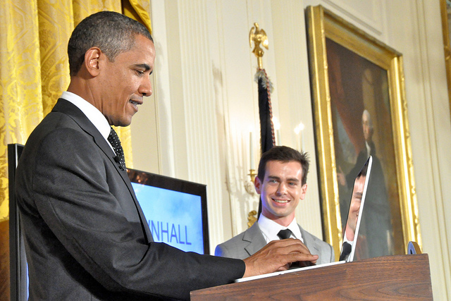 Obama with laptop