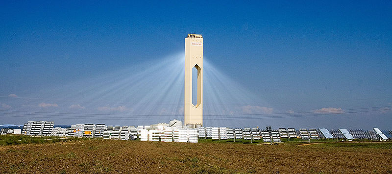 Spanish solar power tower