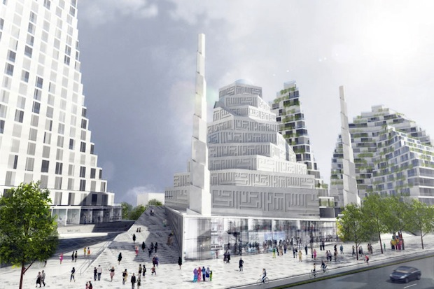 Can a modern mosque in copenhagen settle the disputes for Modern islamic building design
