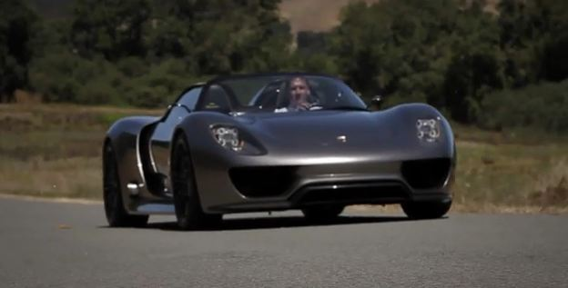 Porsche 918 Spyder electric supercar