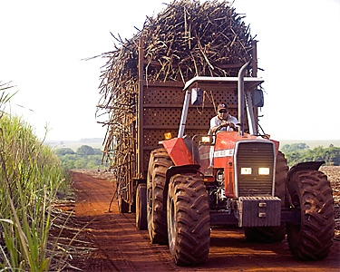 tractor pulling biofuel material