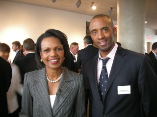 Shawn Baldwin and Condoleeza Rice