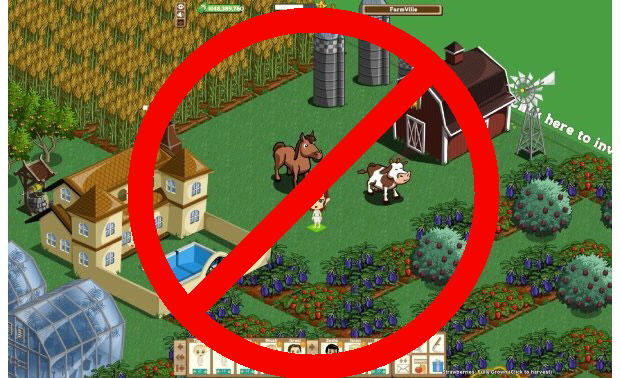 FarmVille with slash through it