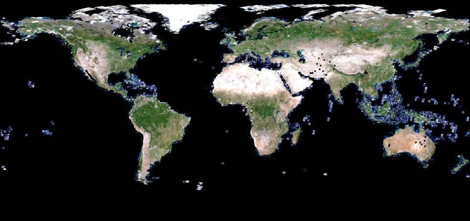Global satellite image