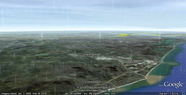 Google Earth Now Shows Rain And Snow In Real Time - Real time maps google earth
