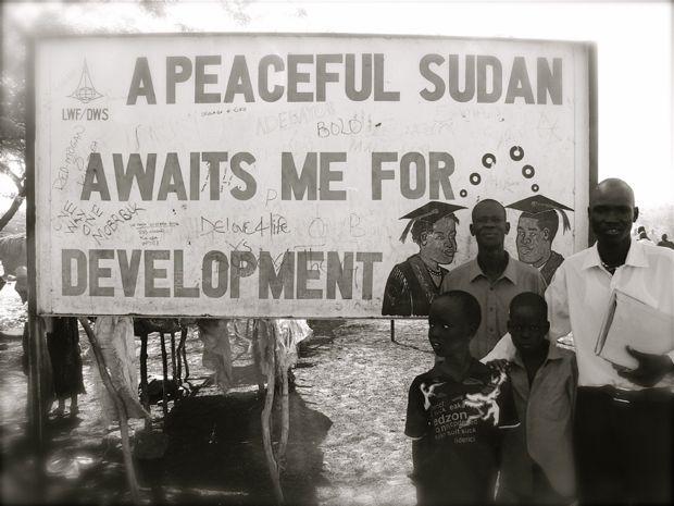 Sudan peace sign