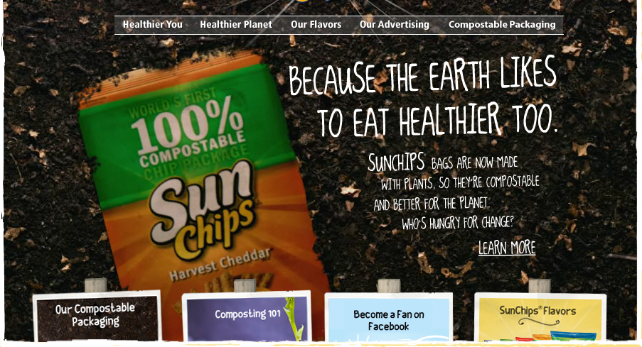 Sun Chips compostable chips bag
