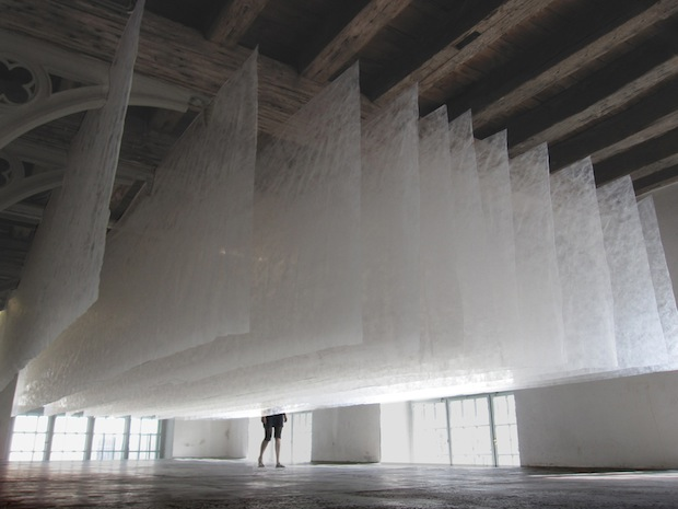 Huge Dryer Sheets Static Cling Magical Installation Art