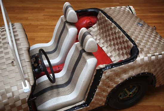 Knit Rider Woven Car Is Part Overstock Part Recycled