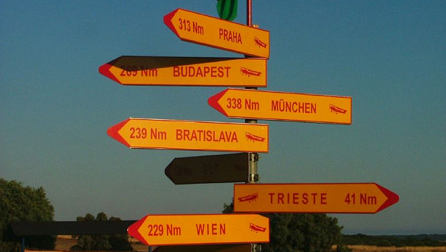 Hungary road signs