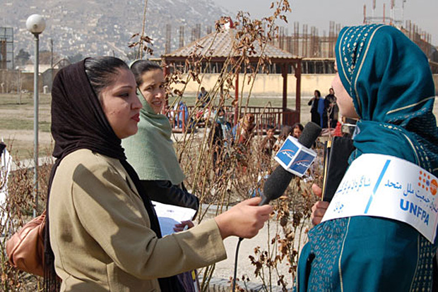 Afghan female journalists