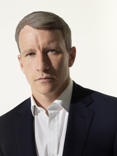 Anderson Cooper with Photoshopped brown hair